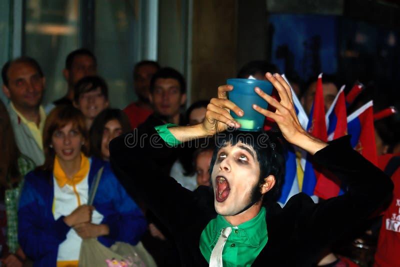 3 2010 mest buskerfest belgrade arkivfoto