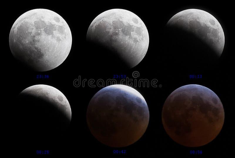 3 4 2007 förmörkar den lunar marschen arkivfoton