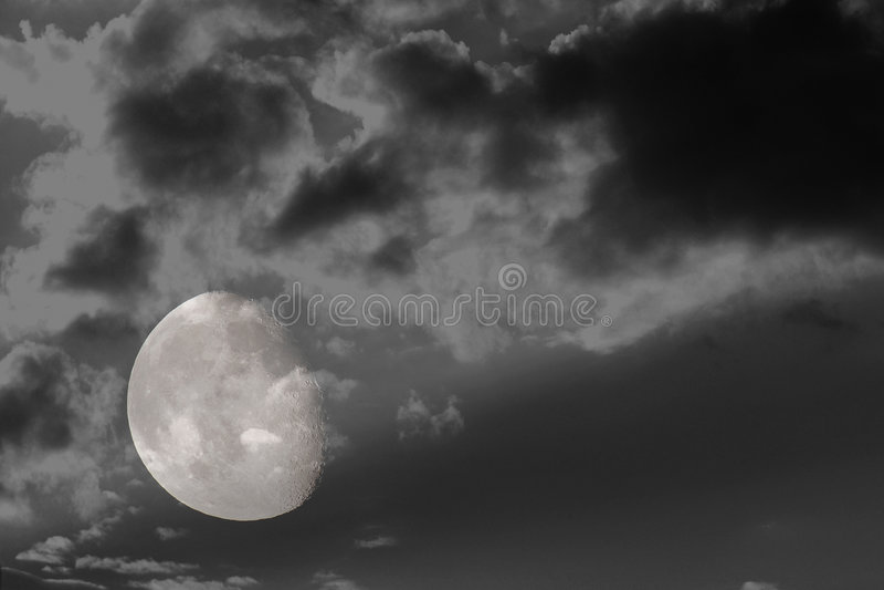 Download 3/4 full moon 4 stock photo. Image of evening, fall, season - 3093118