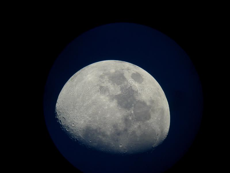 3/4 Moon stock images