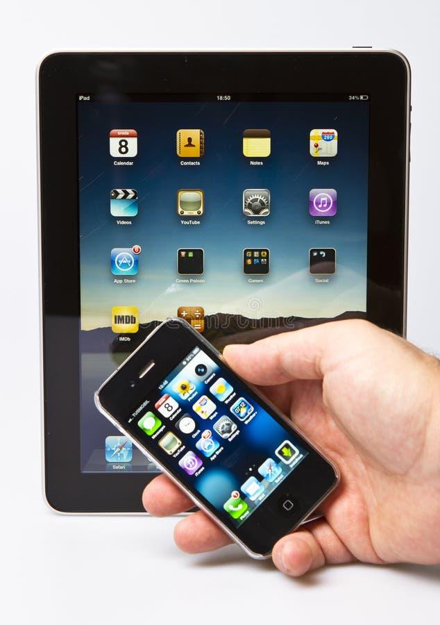 3 4s ipad jabłczany iphone zdjęcia royalty free