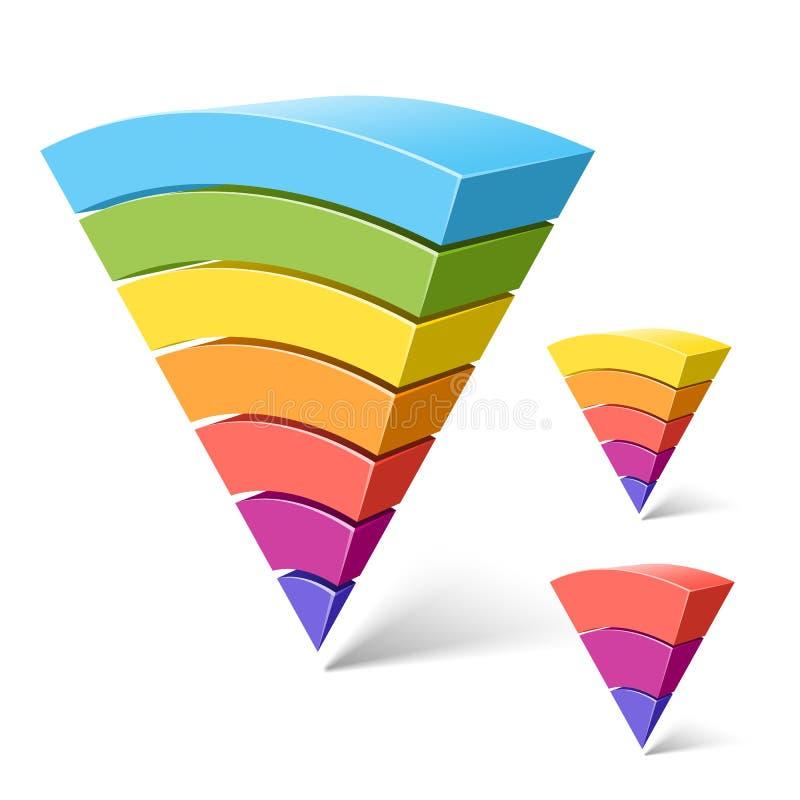 3 5 7个层状细分市场 库存例证