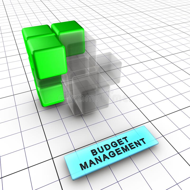 3 6预算管理 库存例证