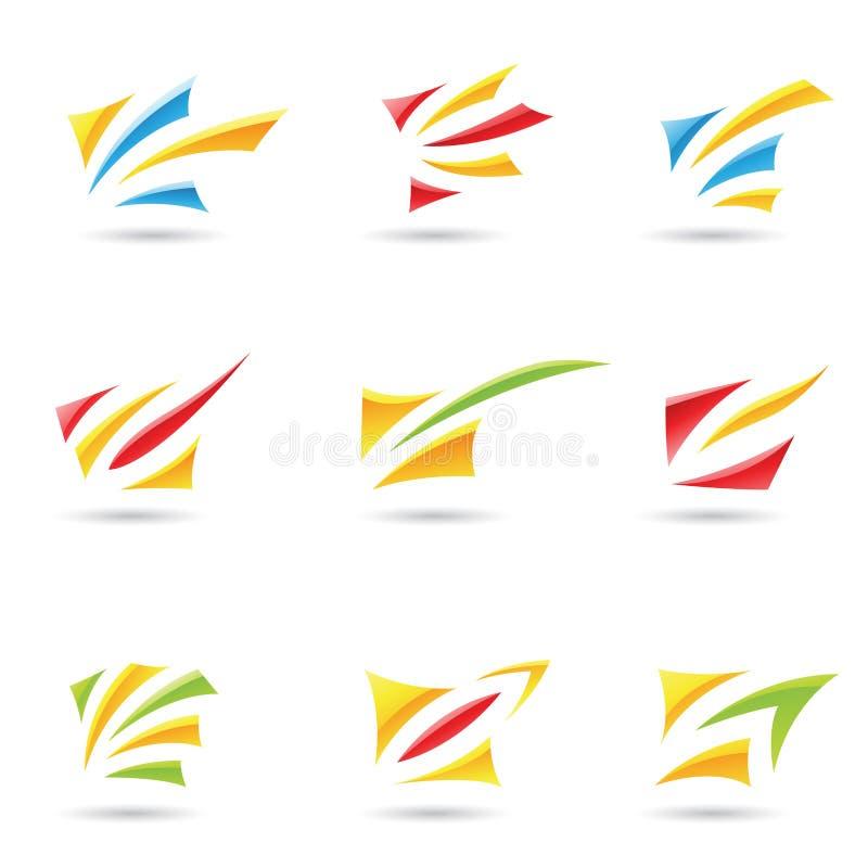 3 abstrakt former stock illustrationer