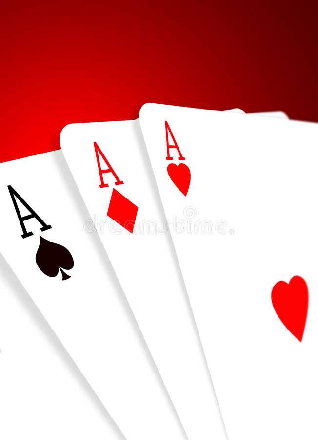 Free 3 Aces Royalty Free Stock Images - 4573129