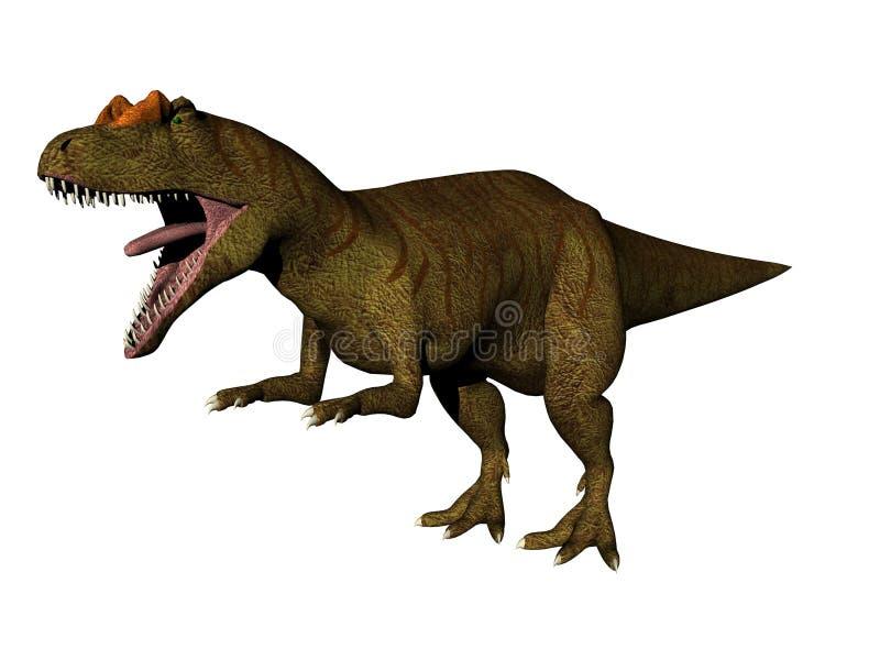 3 allosaurus ilustracja wektor
