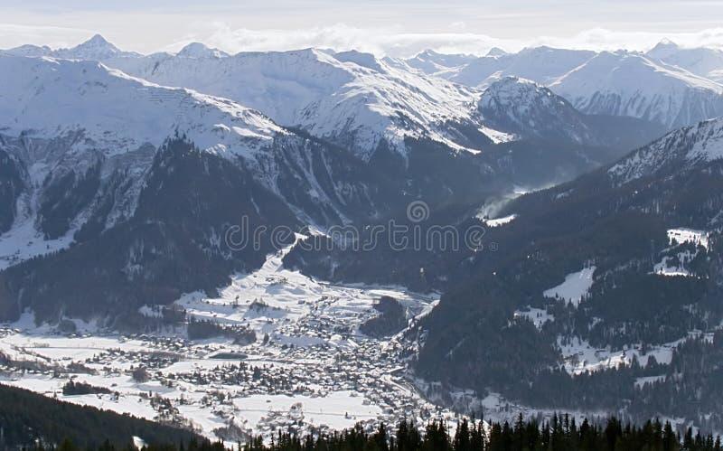 3 alp klosters madrisa lusterka 2007 zdjęcia stock