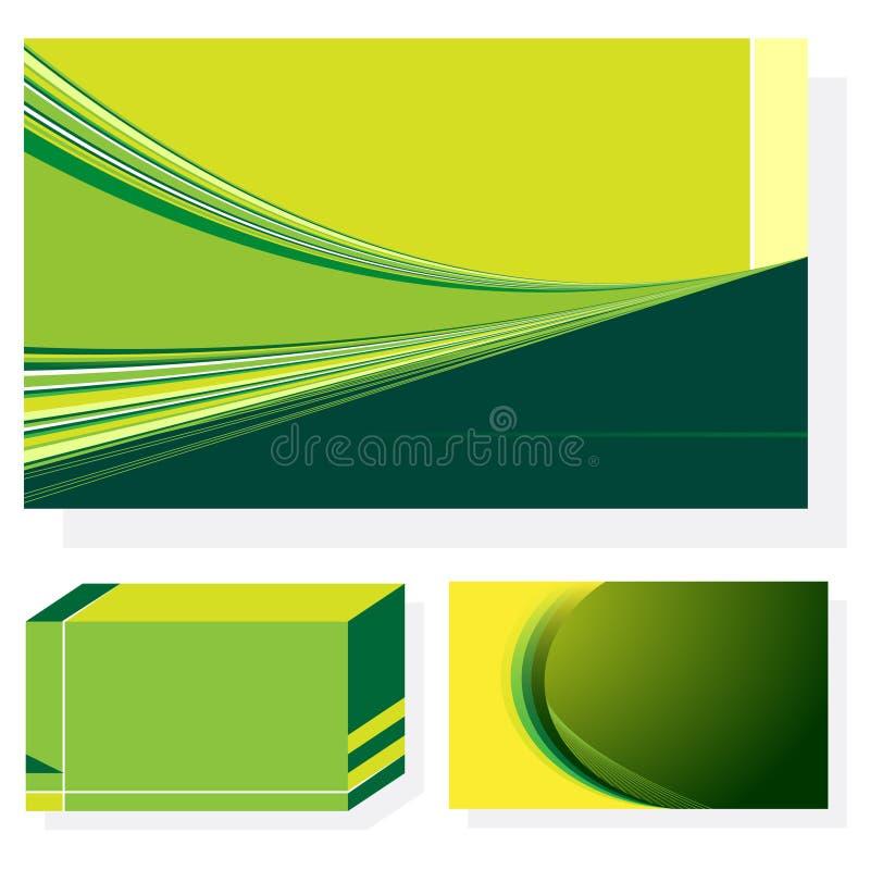 3 ambiti di provenienza astratti verdi illustrazione vettoriale