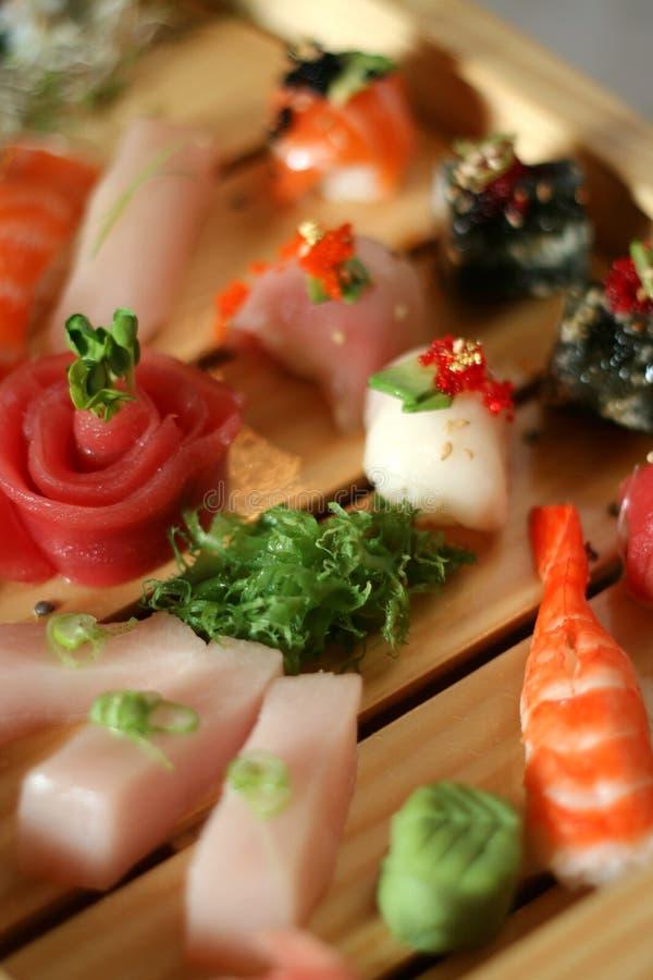 3 asortymentów sushi obraz royalty free