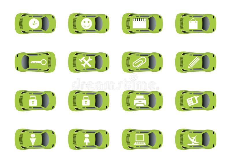 3 auto ikon sieci royalty ilustracja