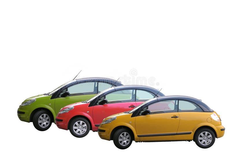 3 auto's stock afbeelding