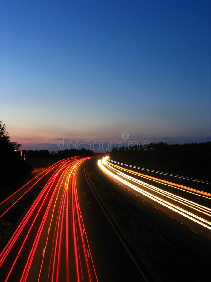 3 autostrad timelapse obrazy stock