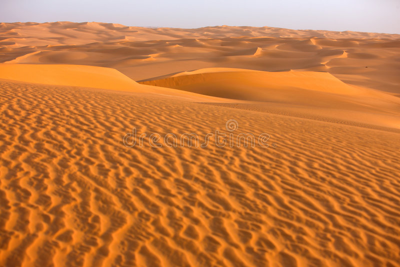 3 awbari diun Libya piasek fotografia stock