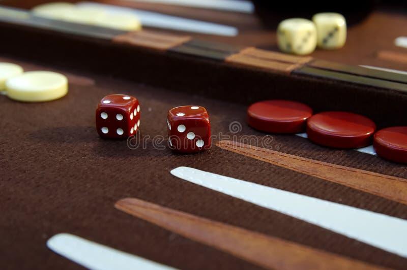 3 backgammon zdjęcie stock