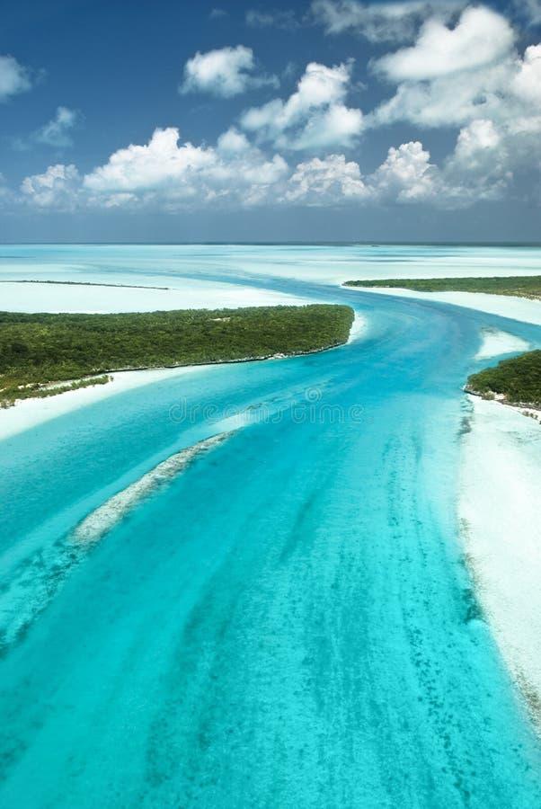 3 Bahamas wyspy raju niebo obrazy stock
