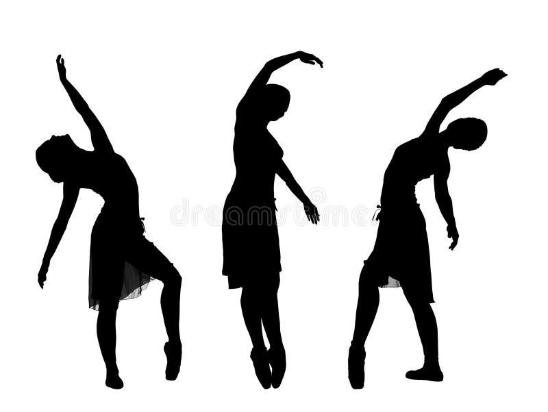 3 bailarinas stock de ilustración