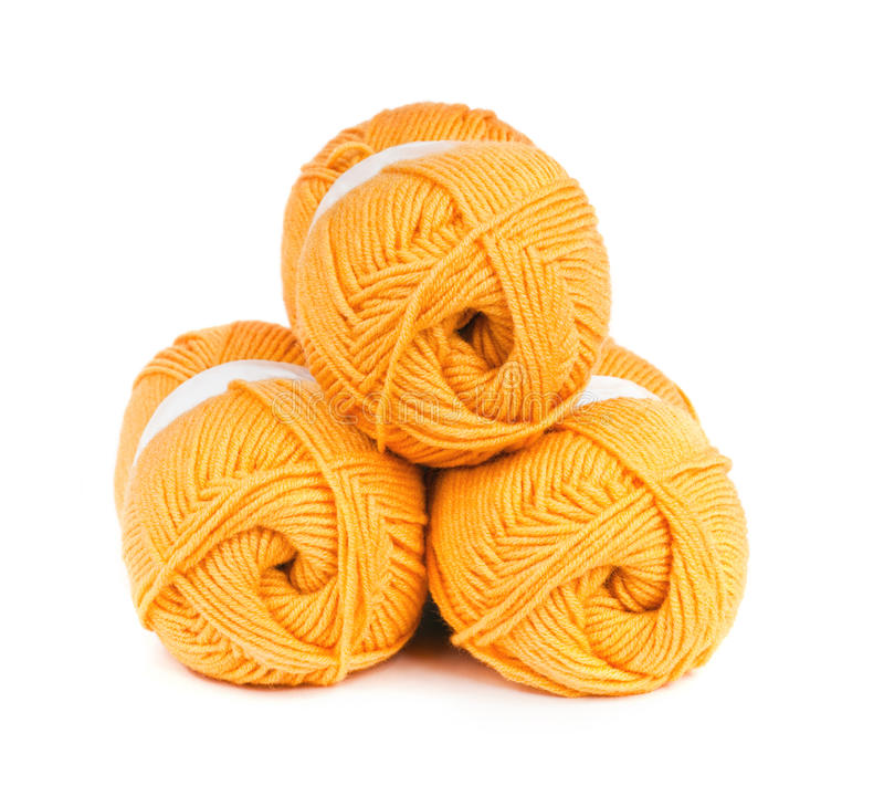 Free 3 Balls Of Yarn Stock Image - 25858321