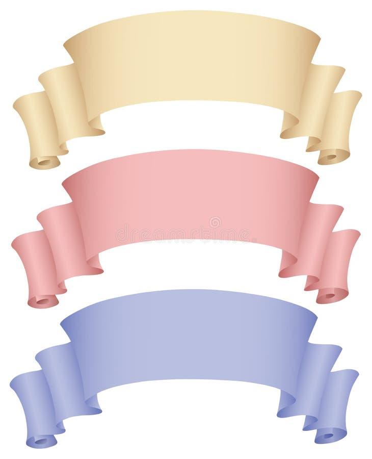 3 banderas ilustración del vector