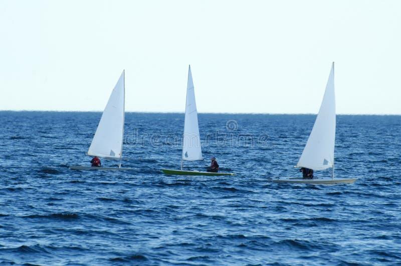 3 barche a vela del kajak immagine stock libera da diritti