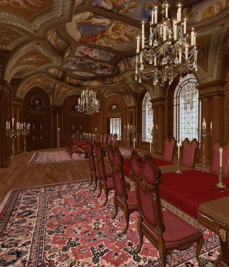 Download 3 baroku pokój ilustracji. Ilustracja złożonej z świecznik - 13338364
