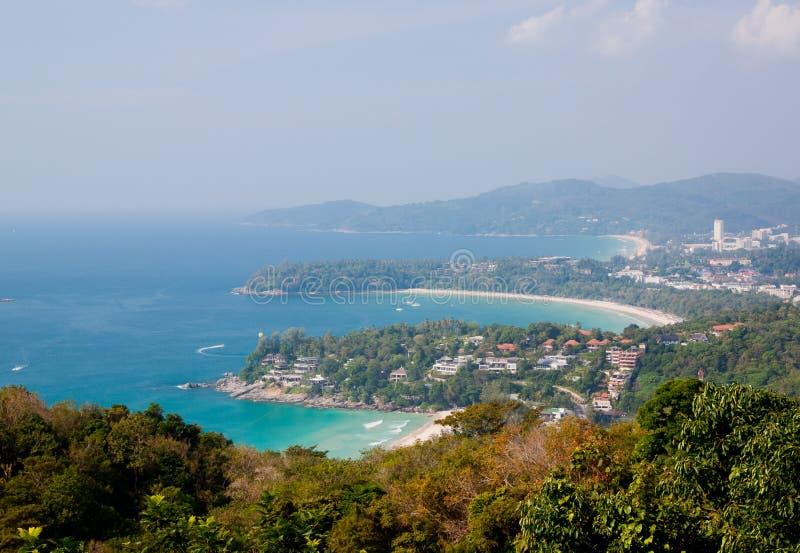 3 beaches in bird view