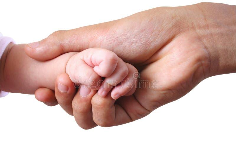 3 behandla som ett barn hand s royaltyfria bilder