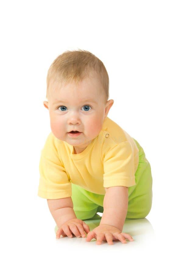 3 behandla som ett barn krypa isolerat litet arkivfoto