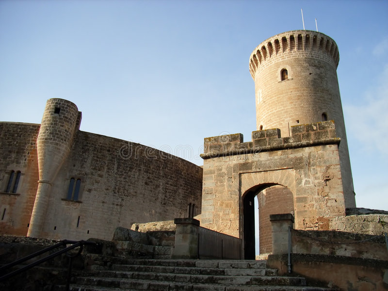 3 bellver城堡 库存照片