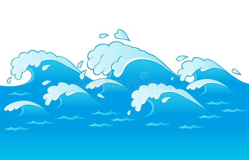 3 bildtemawaves stock illustrationer