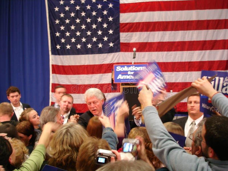 3 Bill Clinton hillary ohio royaltyfria foton