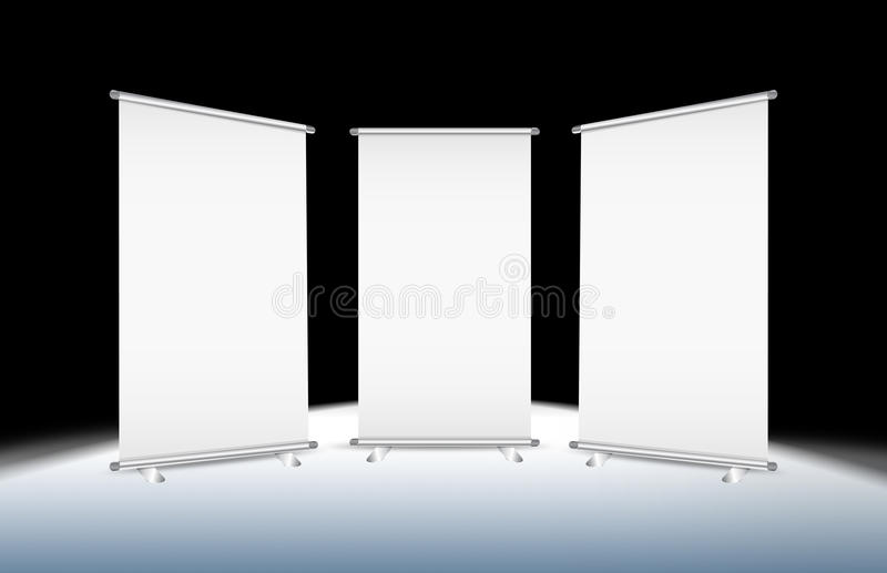 3 Blank Roll-up Stock Photography