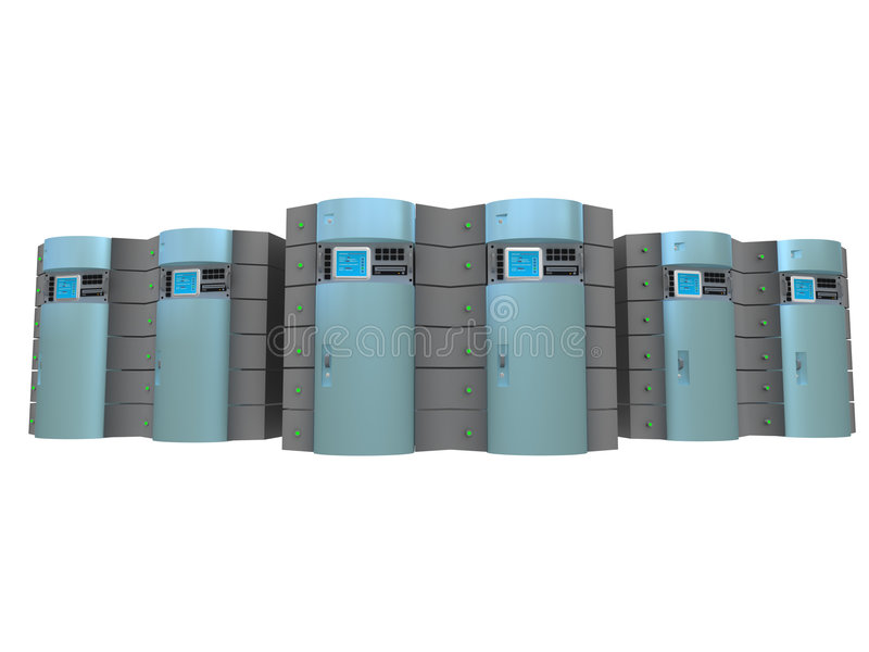 3 blue serwer 3 d ilustracja wektor