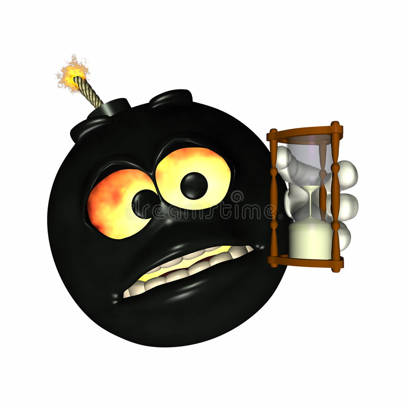3 bombarderar emoticontid royaltyfri illustrationer