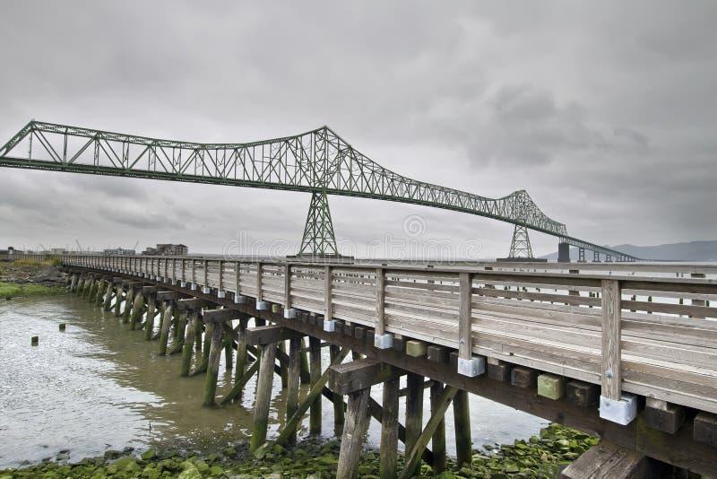 3 bridżowy astoria megler zdjęcia royalty free