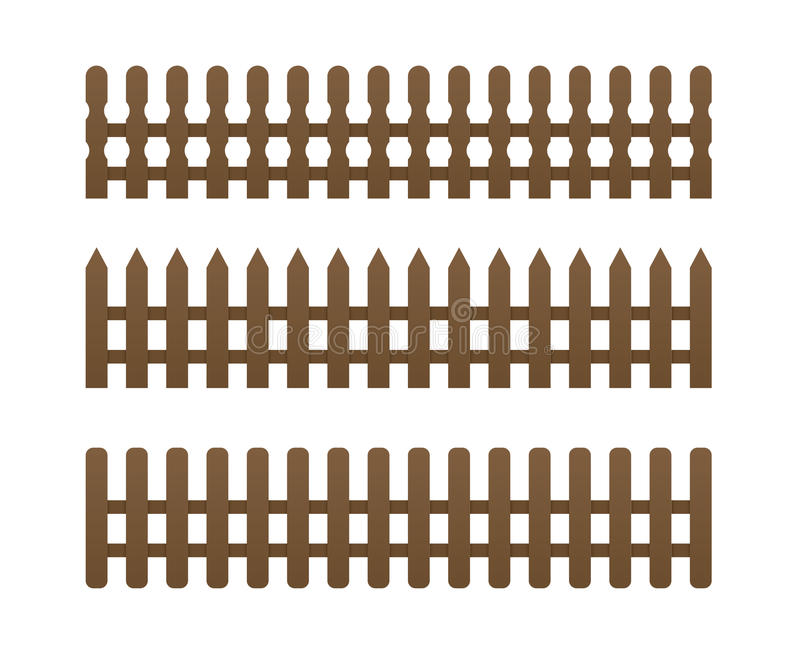 Download 3 brown fence stock vector. Illustration of brown, frame - 23682119