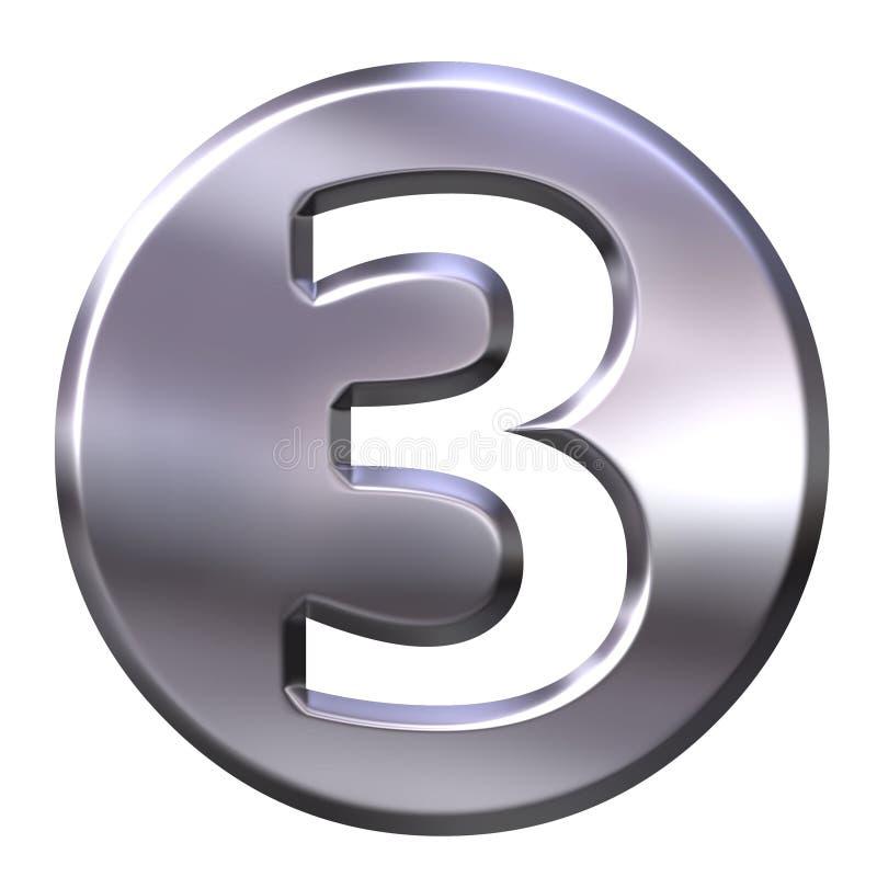 3 być obramowane liczby srebra ilustracji