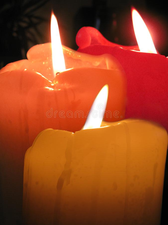 Three Candles Abstract Free Stock Photography