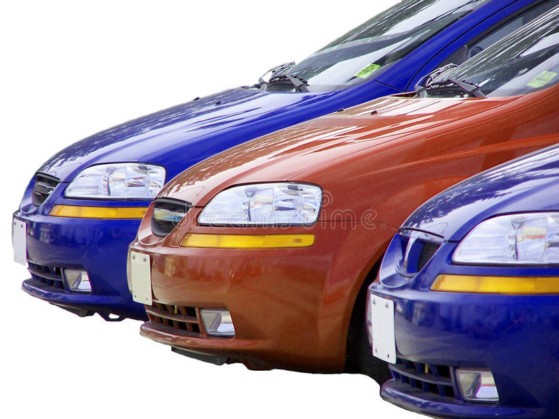 3 Cars stock photography
