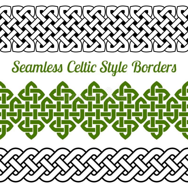 Free 3 Celtic Style Knot Seamless Borders, Vector Illustration Stock Photo - 61839420