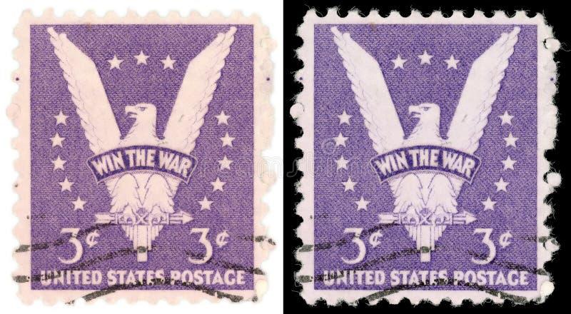 3 Cent US-Briefmarke-Gewinn der Krieg von 1942 stockfoto