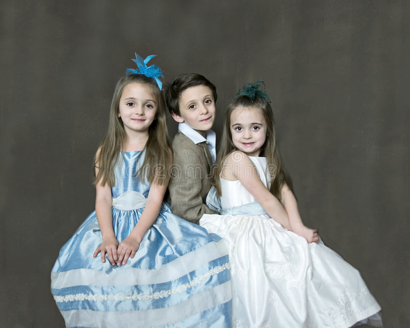 3 Children Portriat royalty free stock photos