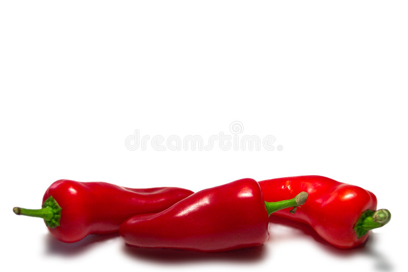3 Chillis stock fotografie