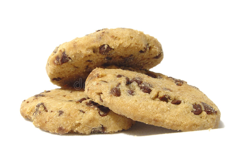 Download 3 cookies stock photo. Image of object, background, nice - 49266