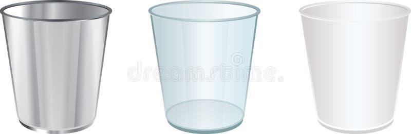3 copos ilustração do vetor