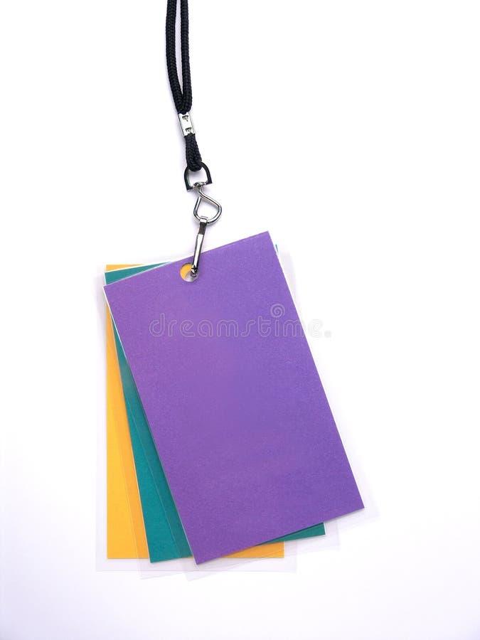 3 credential przepustki brogującej zdjęcie stock
