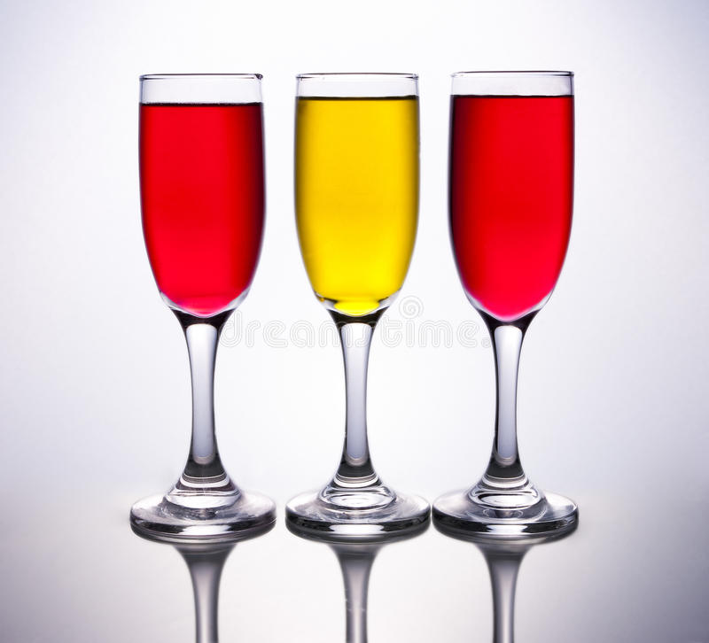 Free 3 Cups Coloured With Spanish Flag Royalty Free Stock Photography - 64048647