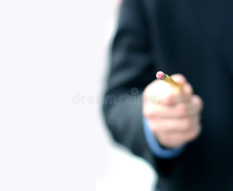 3 człowiek biznesowego ołówek zdjęcie royalty free