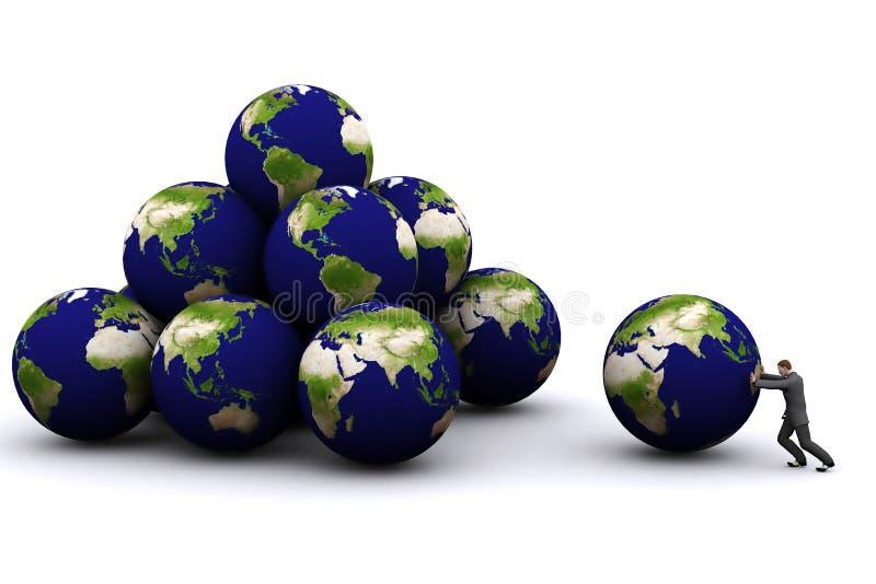 3 d świecie ilustracji