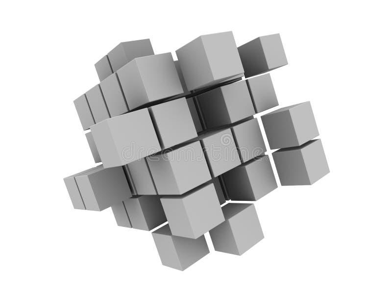 3 d abstrakta kostki ilustracji