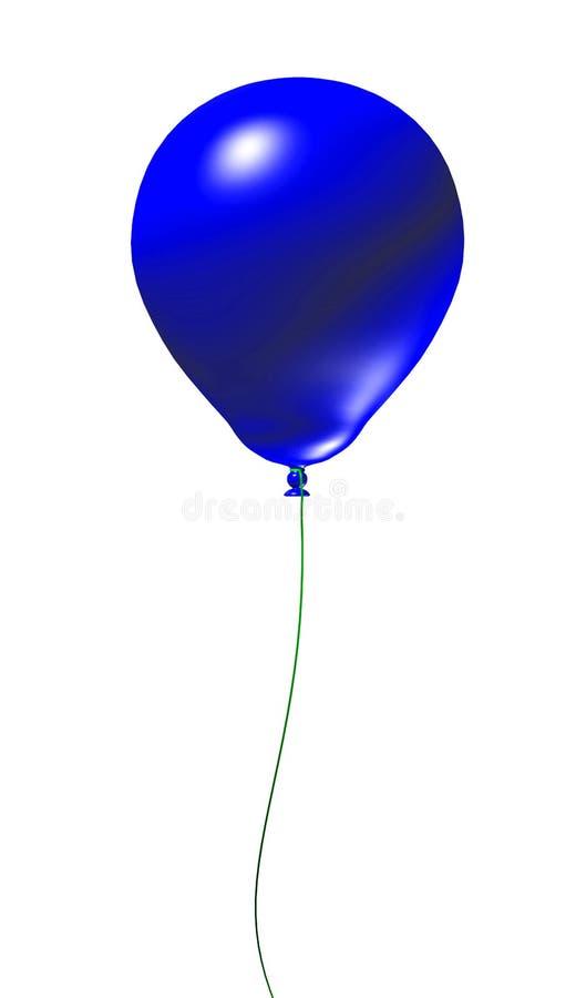 3 d balonowy niebieski royalty ilustracja